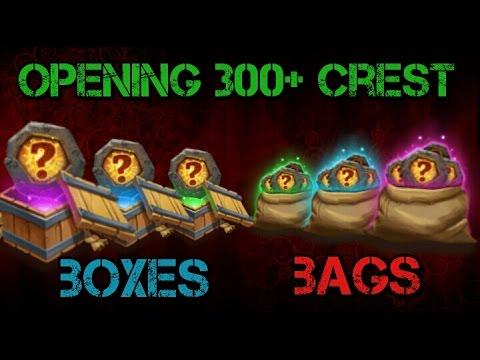 Castle Clash Opening 300+ Crest Bags/Boxes!