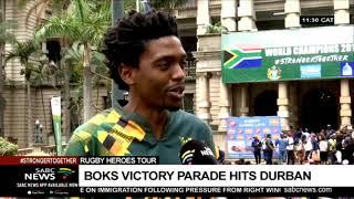 RWC Trophy tour | UPDATE | Durban leg of Springboks victory parade