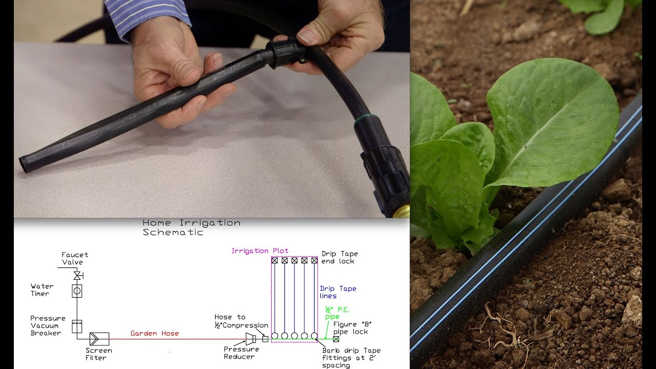 how to install home garden drip irrigation youtube