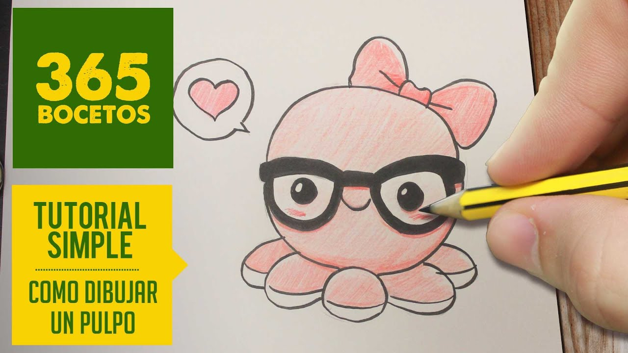 COMO DIBUJAR UN PULPO KAWAII PASO A PASO , Dibujos kawaii faciles , How to draw a octopus , YouTube