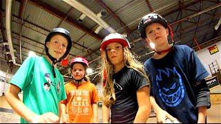 KIDS AT THE SKATEPARK