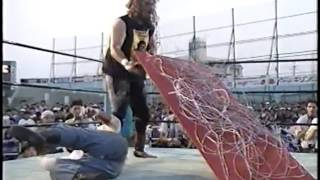 3  Cactus Jack vs  Shoji Nakamaki 82095 Barbed Wire Board Spike Nail Death Match