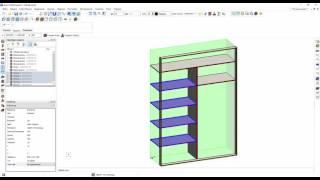Создаем встроенный в нишу шкаф купе в Базис мебельщик
