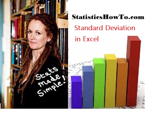 How to find standard deviation in Excel 2013