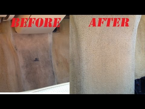 how to clean car carpet and stain on carpet. no tools! works
