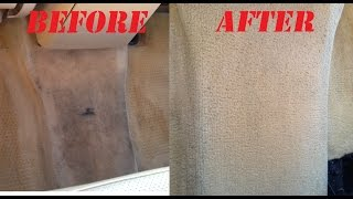How to clean car carpet and stain on carpet. NO TOOLS! Works excellent!!! Auto carpet cleaning!(, 2014-09-27T01:01:27.000Z)