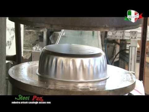 Steel pan produzione di pentole in acciaio inox youtube for Scatolati in acciaio inox