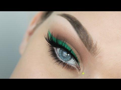 Green Liner + Orange Lips