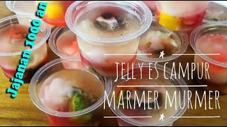 Resep Jelly Es Campur Marmer Murmer, seribu rupiah per-cup