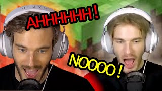 Pewdiepie Screaming in Minecraft for 16 Minutes Straight... | Minecraft Funny Moments
