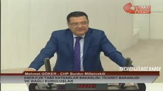 CHP BURDUR MİLLETVEKİLİ MEHMET GÖKER MECLİS KONUŞMASI-12 ARALIK 2018