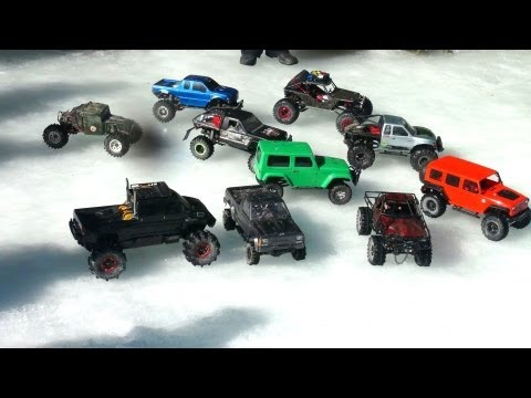 RC ADVENTURES - 4x4 Trucks on a Group Trail Run in Canadian Outback (PT2)