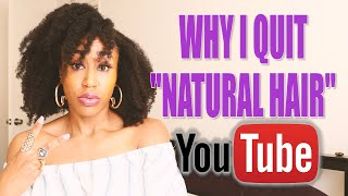 "Divesting from the ""natural hair community"" was GREAT for me tbh. 