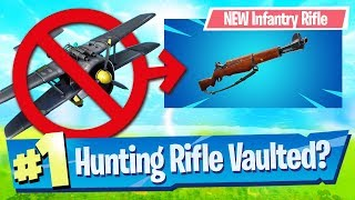 NEW Infantry Rifle + Planes Getting Nerfed! - Fortnite Battle Royale
