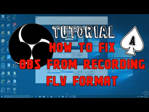 How To Record In MP4 with OBS and OBS Studio. How To Fix OBS FLV Format