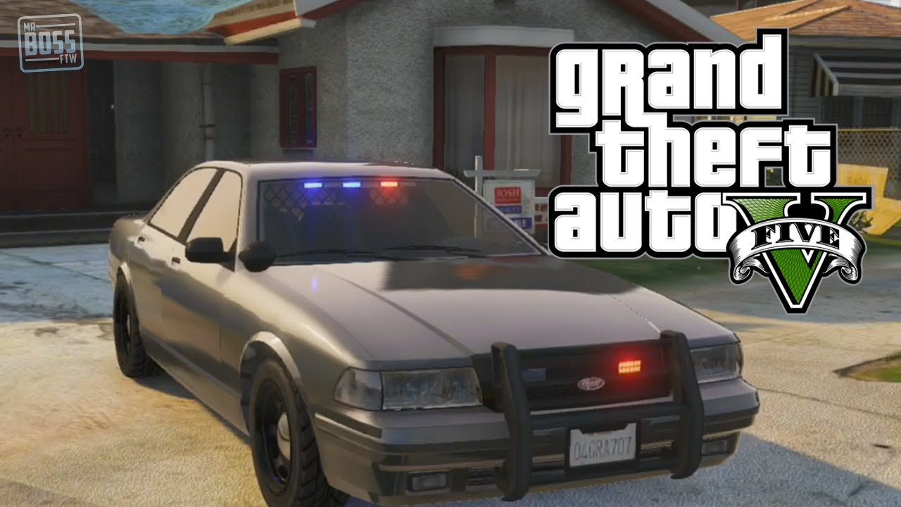GTA 5 Online: Undercover Cop Car & Store Police Vehicles (GTA ...