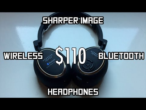 Sharper Image Wireless Bluetooth Headphones Review Youtube