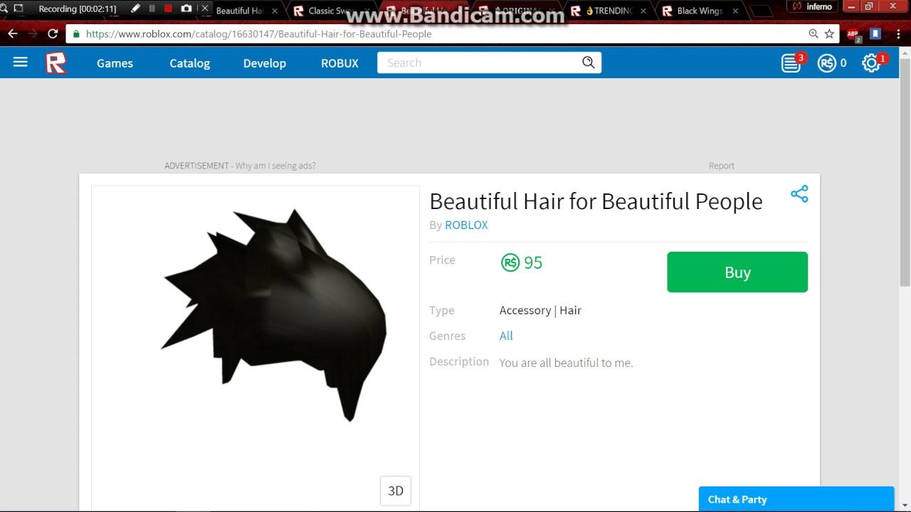 beautiful black hair roblox id