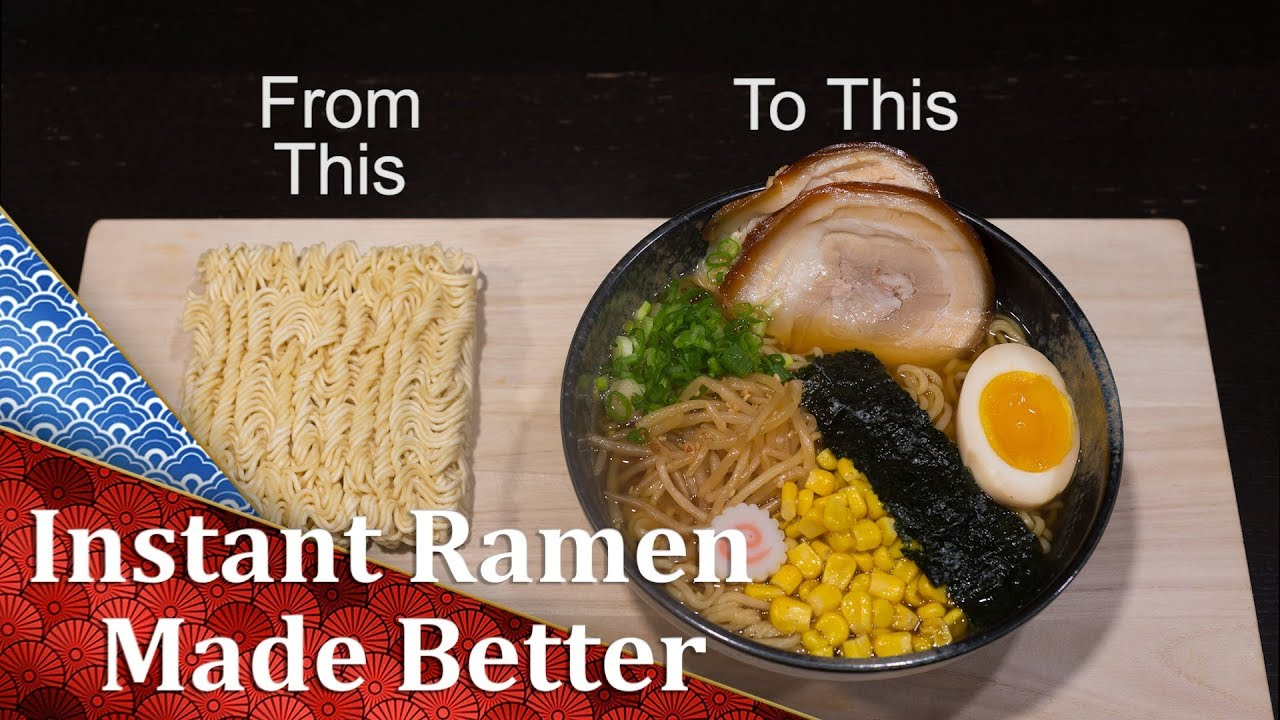 How to make packaged ramen