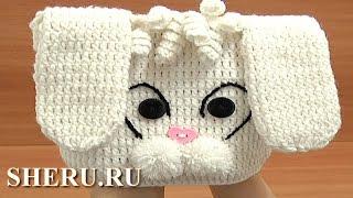 How to Crochet Bunny Hat Урок 1 часть 1 из 3 Шапочка детская вязаная