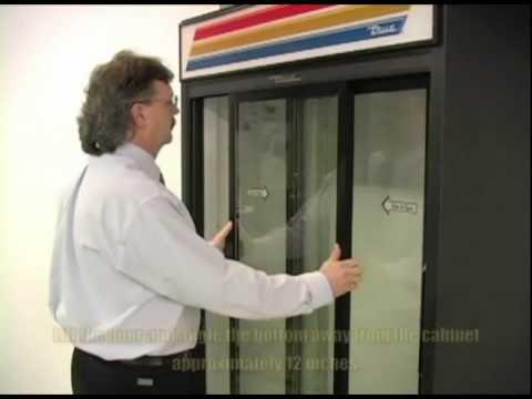 True® MFG - Glass Door Merchandisers - Top-Hung Slide Door System