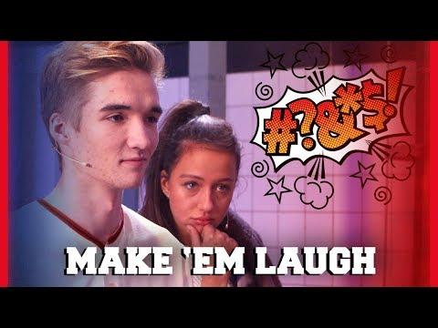 GIO IS ER KLAAR MEE TIJDENS MAKE 'EM LAUGH ?!   Gio, Dylan, Jill, Sophie   Challenges Cup #8