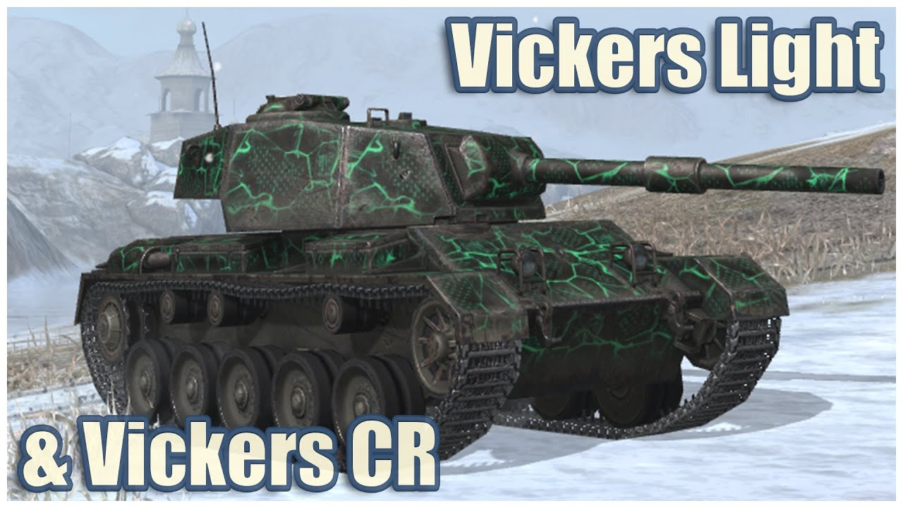 Vickers Light 105 & Vickers Cruiser • WoT Blitz Gameplay