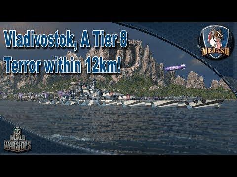 Vladivostok: T8 Terror within 12km, WIP Russian Battleship