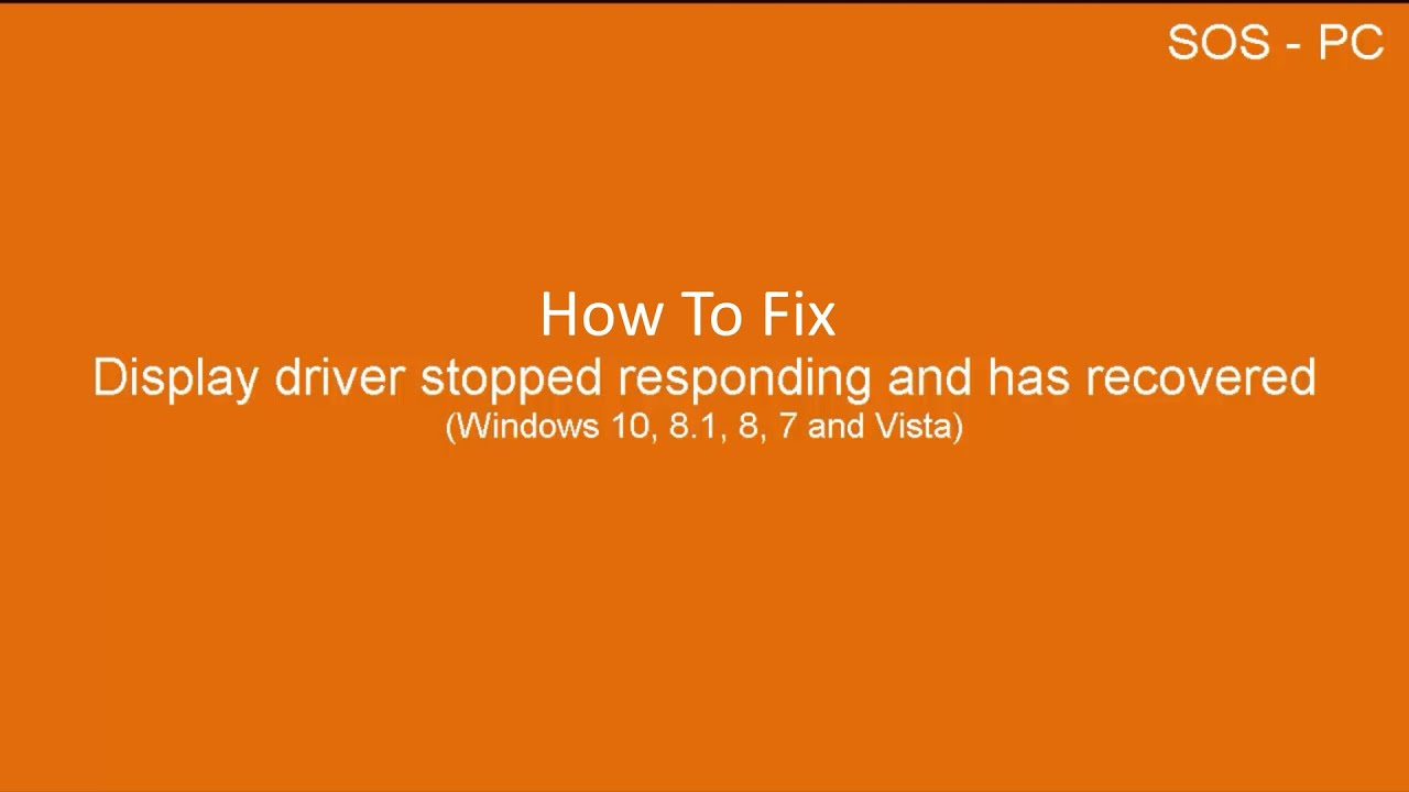 How To Fix Display Driver Windows 10