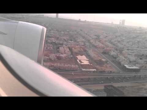 Landing in Jeddah Airport (JED) on Airbus A380-800