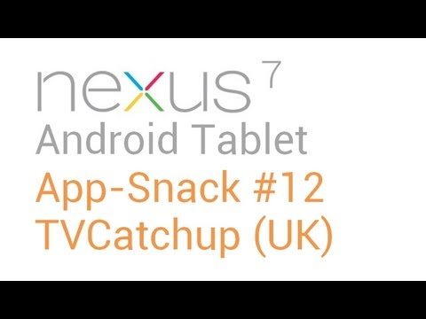 Best Tablet Android Apps: #12 TVCatchup (UK) - Nexus 7 Asus Transformer Prime (TF201, TF300, TF700)