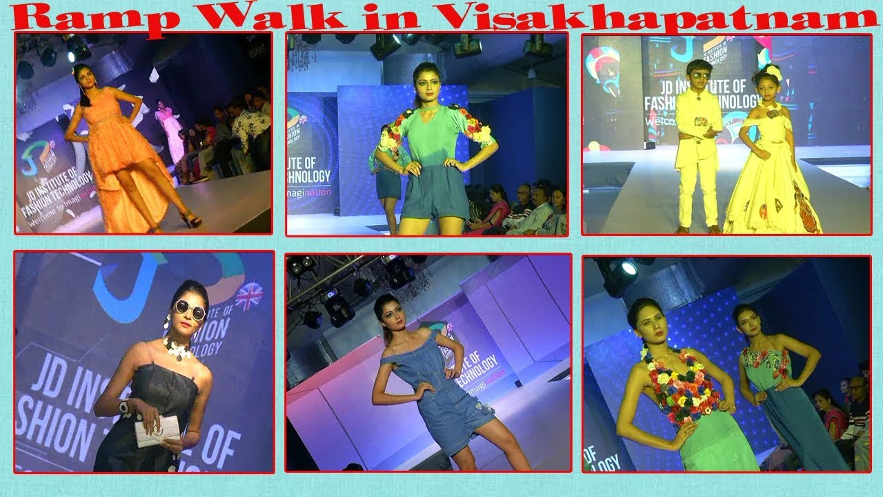 Jd Institute Of Fashion Technology Designs Ramp Walk In Visakhapatnam Vizag Vision Youtube