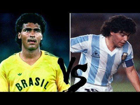Romário Vs Maradona 1989  Brazil x Argentina  Copa América