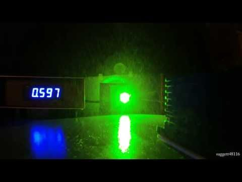 5 min 532nm lab laser LPM test