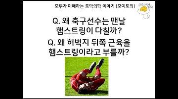 축구선수가 맨날 다치는 햄스트링이 무엇일까? 왜 이름이 그럴까? [모이토의] [김의사박사]