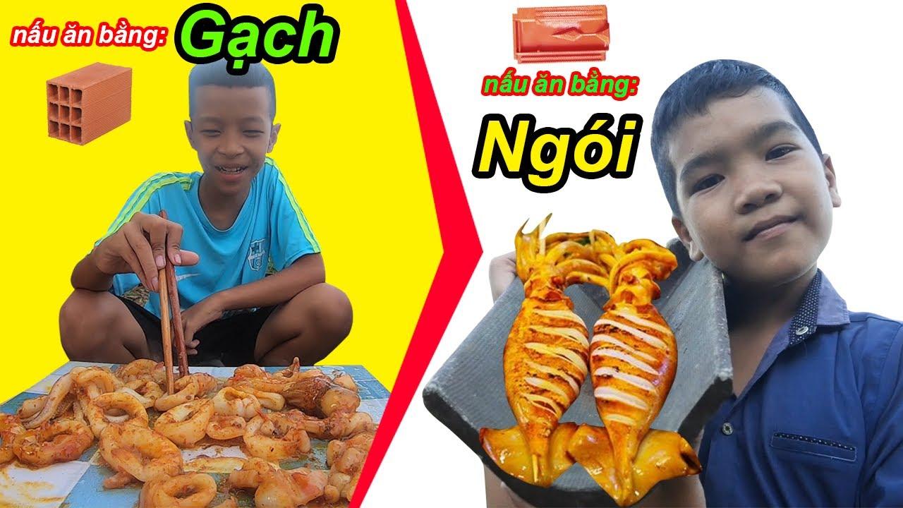 Ủng Hộ Miền Trung Trẻ Trâu Bị Thách Thức Solo Nấu Ăn Bằng Gạch Và Ngói | TQ97