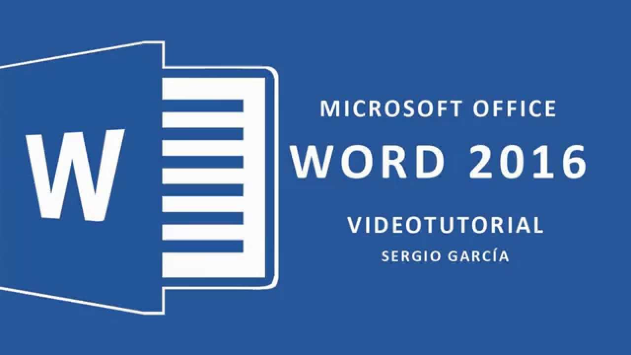 Curso word 2016 tutorial 1 inicio y elementos b sicos for Como anotarse en procrear 2016