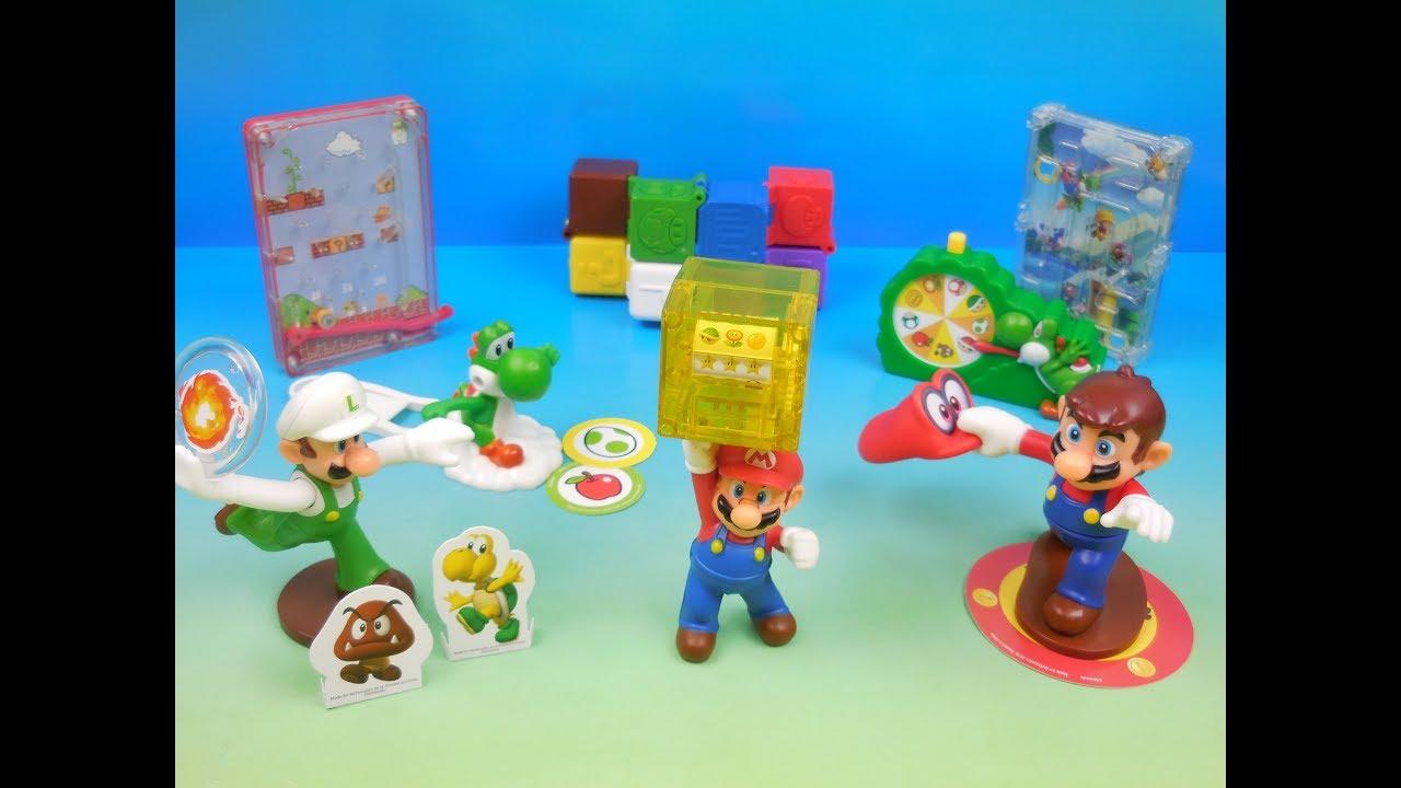 2018 Super Mario Set Of 8 Mcdonalds Happy Meal Kids Toys Video