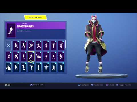 Fortnite Drift Outfit   Emote Showcase (Stage 5)