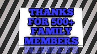 Thanks for 500+ family members
