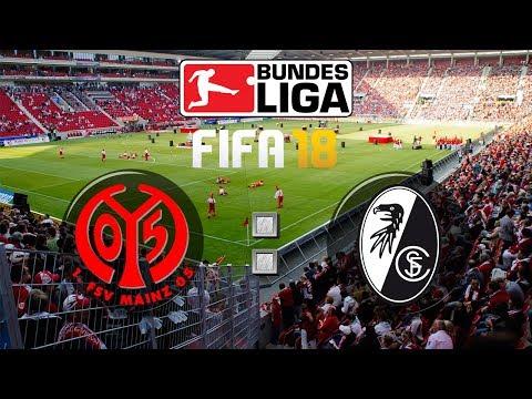FIFA 18 Bundesliga 1. FSV Mainz 05 : Sport-Club Freiburg | Gameplay Deutsch Livestream