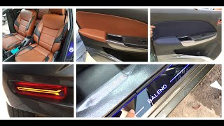 MARUTI SUZUKI BALENO FULL MODIFIED   SEAT COVER   REFLECTOR   BALENO INTERIOR MODIFIED. Video