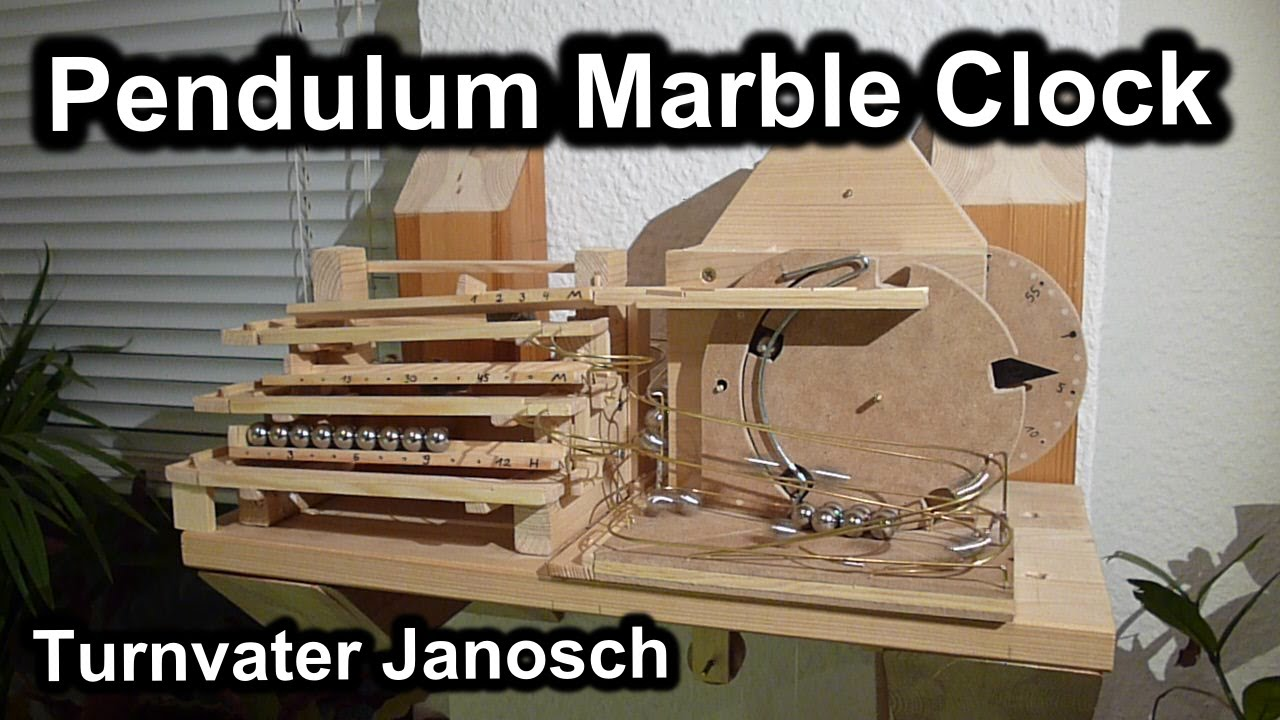 Murmelbahn Pendeluhr De Pendulum Rolling Ball Clock