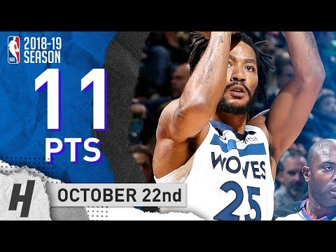 Derrick Rose Full Highlights Wolves vs Pacers 2018.10.22 - 11 Pts, 5 Assists