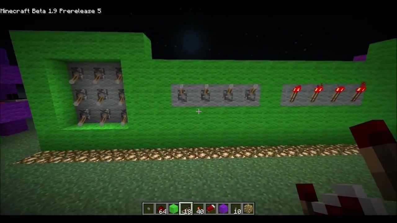 minecraft how to wire up control panels redstone indicator torches rh youtube com Redstone Wire Mod Redstone Lamp Wiring