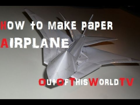 how to make a paper airplane easy and fast