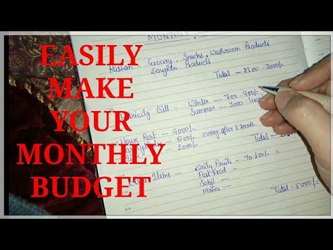 hindi how to manage monthly budget simple way to plan indian