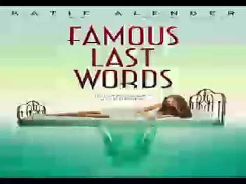 Famous Last Words Audiobooks by Katie Alender