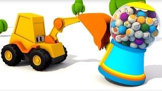 Развивающие мультики для детей - Экскаватор Мася. Веселая карусель - домашние животные