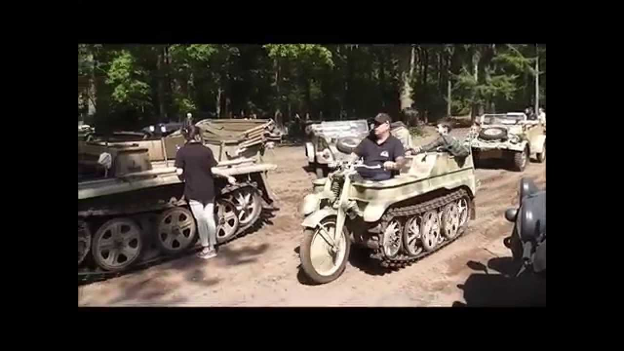 Meeting of german military vehicles from WW2     ( second